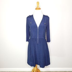 Anthro D'armee Dress Navy by Parameter